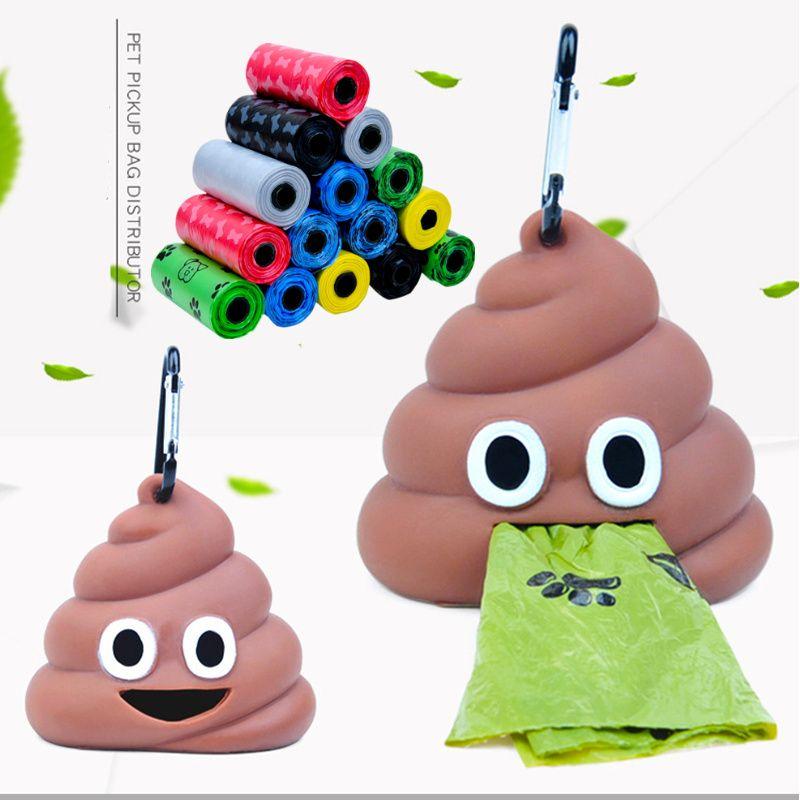 Pet Dog Poop Bag Dispenser Waste Garbage Holder Dispensers Poop Bags Pets Dogs Trash Cleaning Dog Toy Pet Supplies