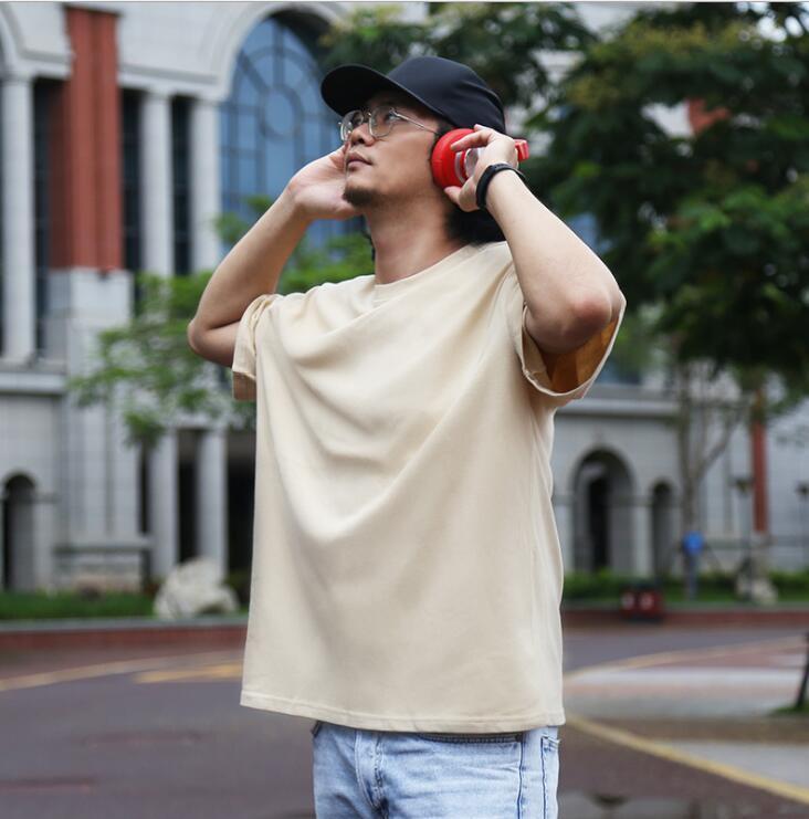 20SS MEN S Bekleidungsgröße XS-2XL ER853 2021 Neue Casual Herren Kurzarm Reine Farbe Weiß Schwarz Rot Lila Mode T-Shirt