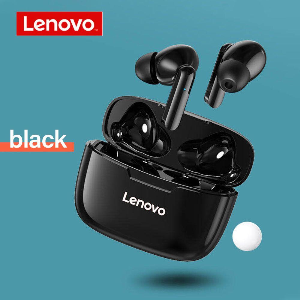 Lenovo XT90 TWS Bluetooth 5.0 Auricolare auricolare Latenza bassa Latenza HiFi Bass Impermeabile Sport Gaming Cuffie con rumore Annullamento MIC Type-C Carica