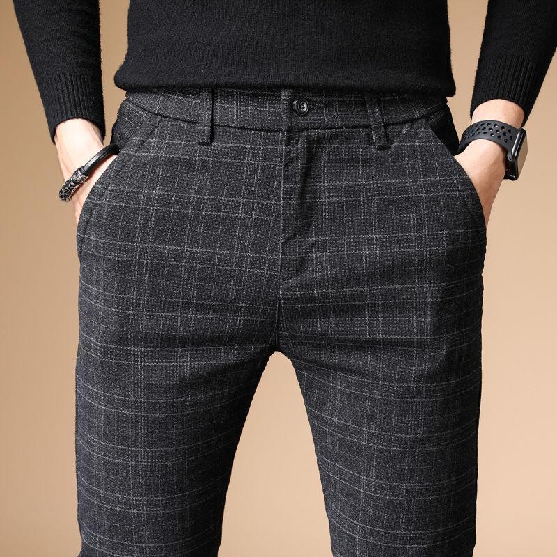 2021 sonbahar lüks erkekler casual pantolon kalın pamuk ve keten erkek pantolon düz pantolon iş artı boyutu 38
