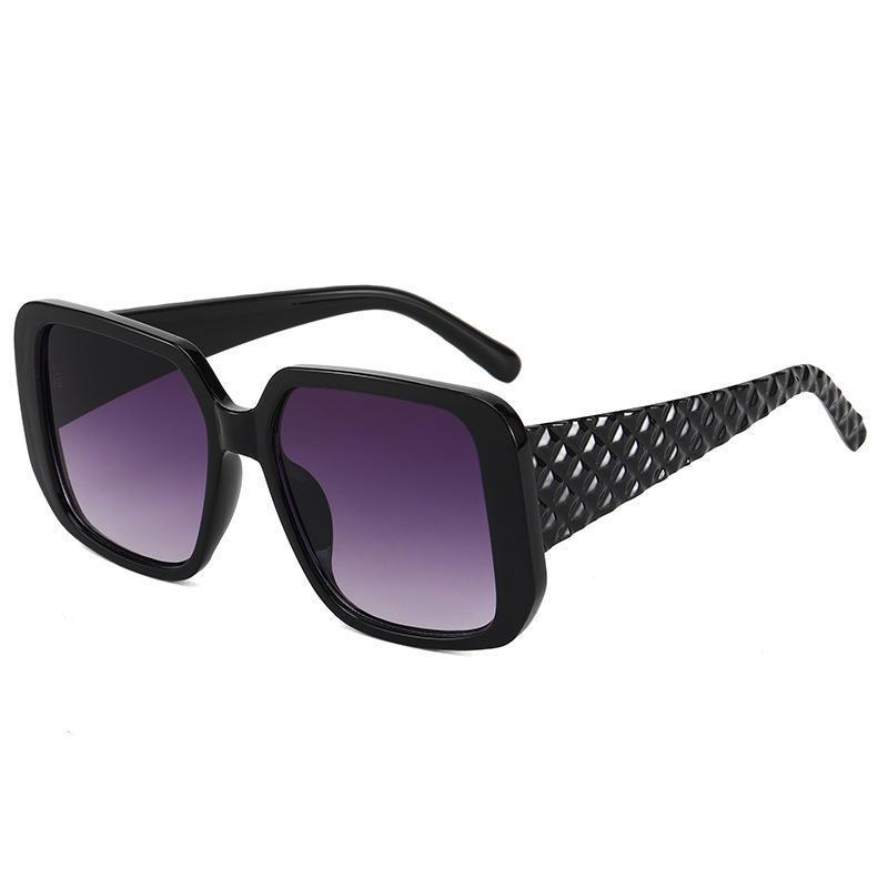 Солнцезащитные очки Маленькая ароматная дама дизайнер негабаритных солнцезащитных очков ретро Большая рама прилив круглые очки