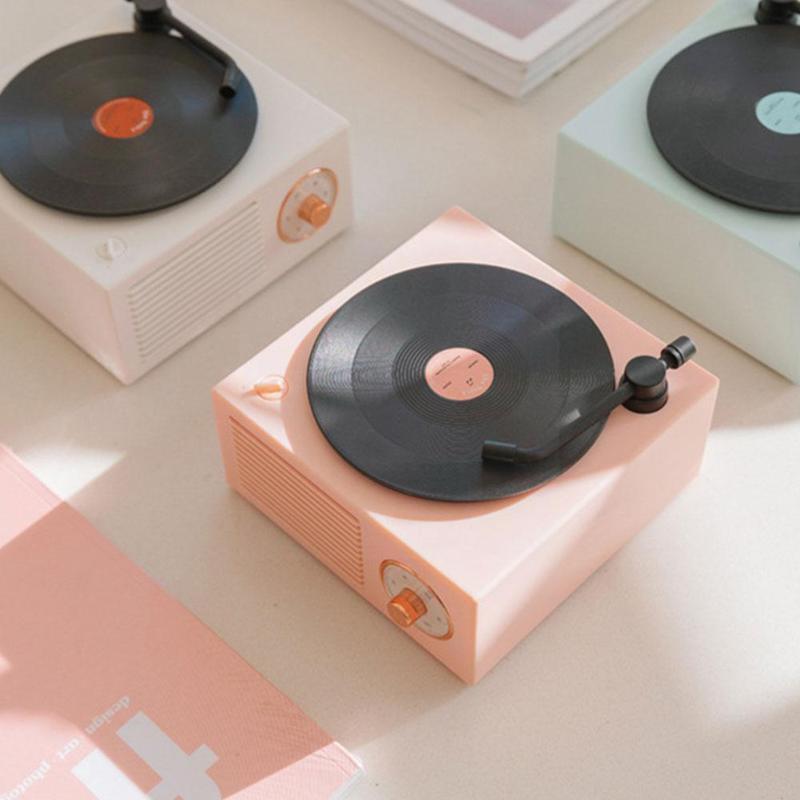 Lettori MP4 retro record record Player Bluetooth-Compatible5.0 Aux MP3 Mini altoparlanti TF wireless multifunzione N7V