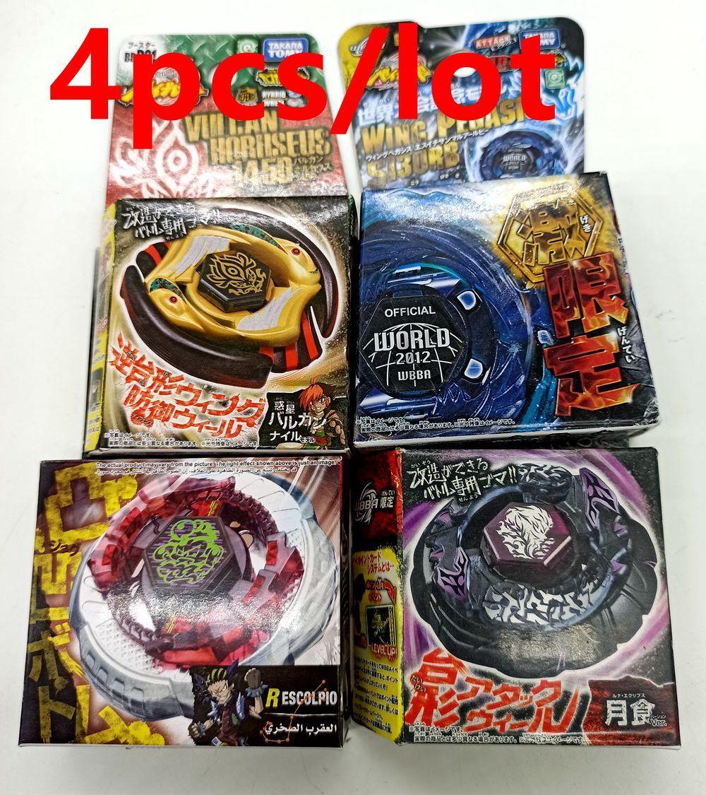 4 pçs / lote Takara Tomy Beyblade Edição limitada com caixa original BBP01 Vulcan Horuseu 145d como brinquedo do dia das crianças