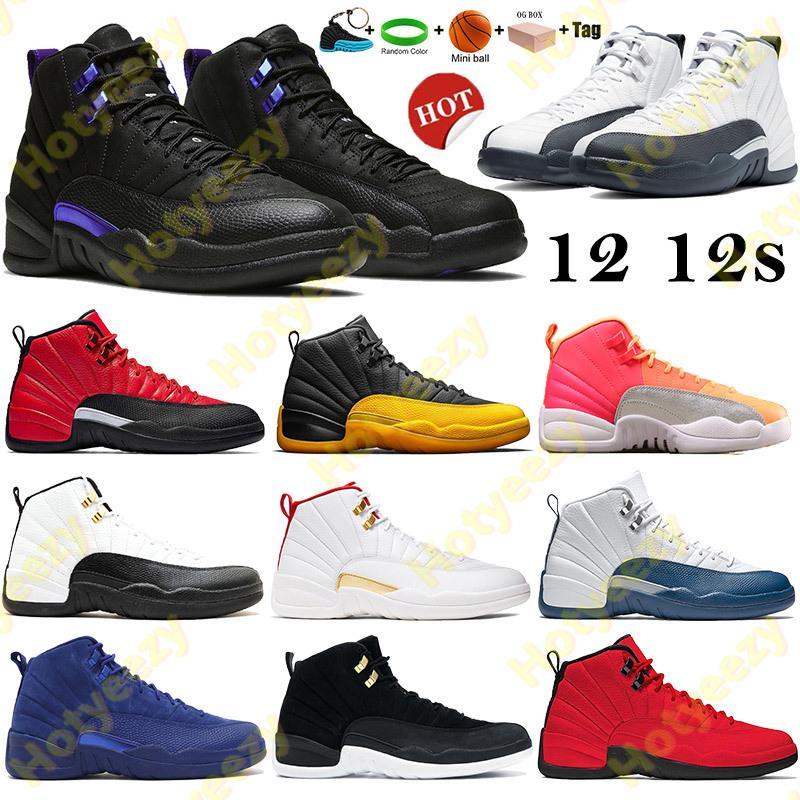 태그 12 12S 남자 농구 신발 체육관 빨간색 키 체인 대학과 마스터 트레이너 골드 리버스 독감 게임 인디고 CNY 트레이너