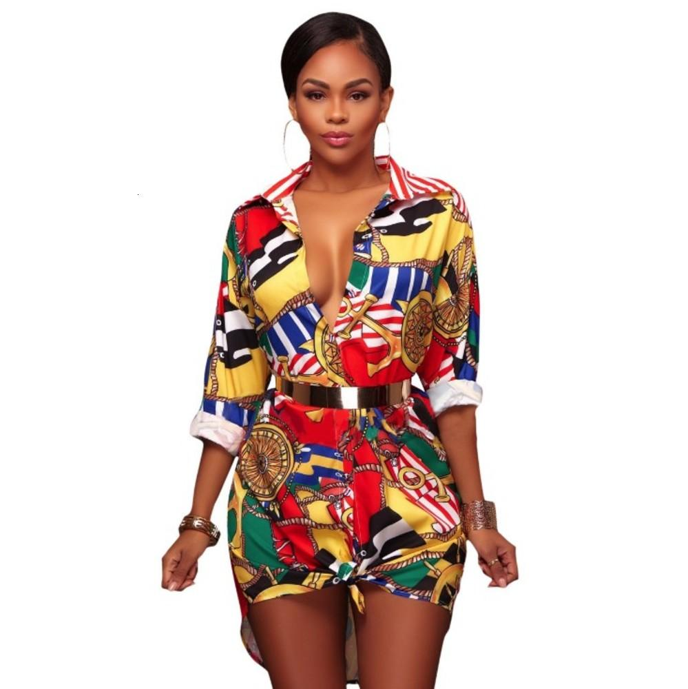 Été Vintage Shirts Mini robe à manches longues Femmes Classique Retro Blouse Party Plage Robes Casual Black Black