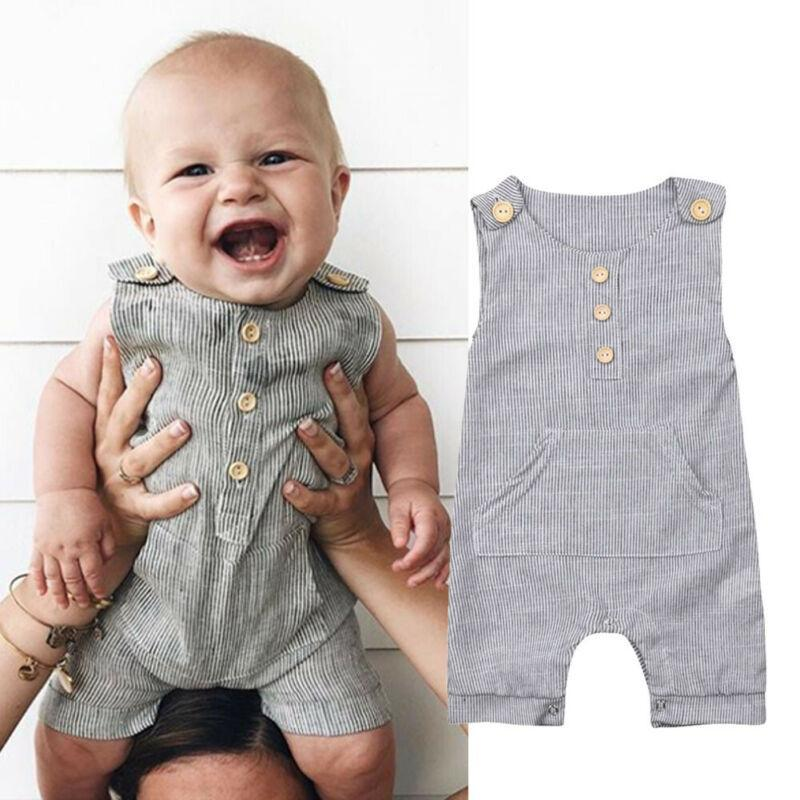 0-18m Neugeborenen Outfit Kleidung Junge Strampler Tops Mädchen Jumpsuit Baby Einteilige Beiläufige Buttons Jumpsuits Kinder Kleidung