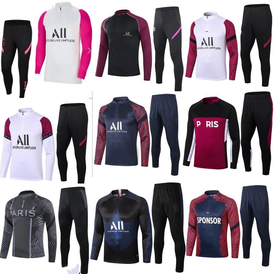 2021 2022 homens jersey de futebol treinamento paris maillot de pé cavani verratti sobrevetimento de futebol tracksuit camisas jordam futebol tracksuit jogging