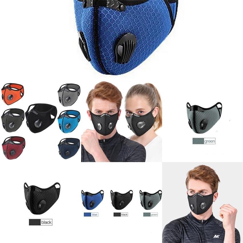 Factoryaxk4outdoor Maschere da corsa in carbonio attivato in equitazione Anti-Fog Haze Uomo e donna Calda Bicicletta Polvere