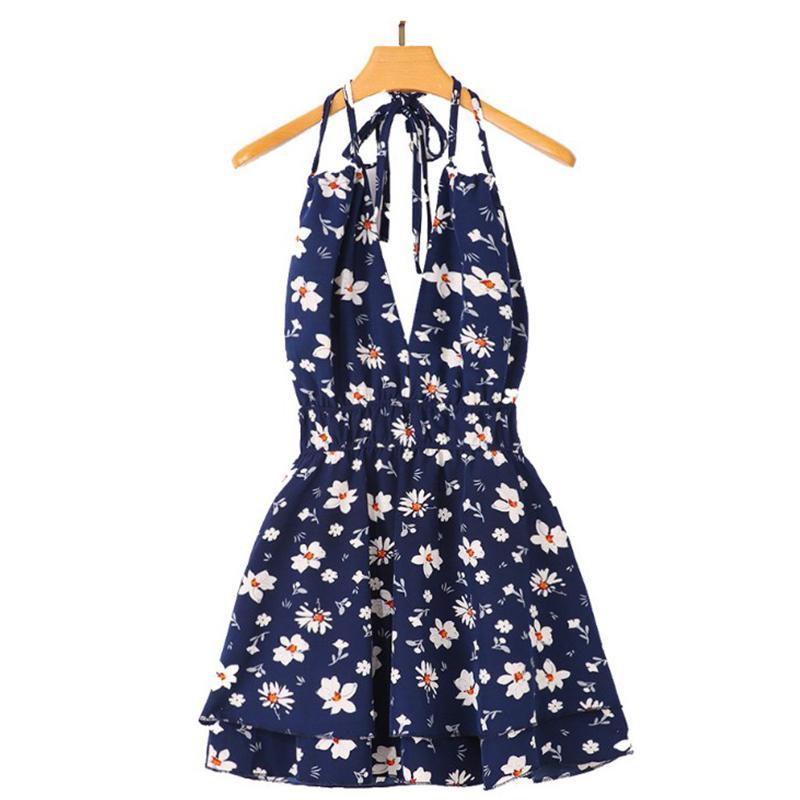 Летние сексуальные флорские скольжения платье женщин бекс блестящие глубокие V-образные шеи BECH мини-платья Free 2021 Fshion New Ldy без рукавов короткое платье