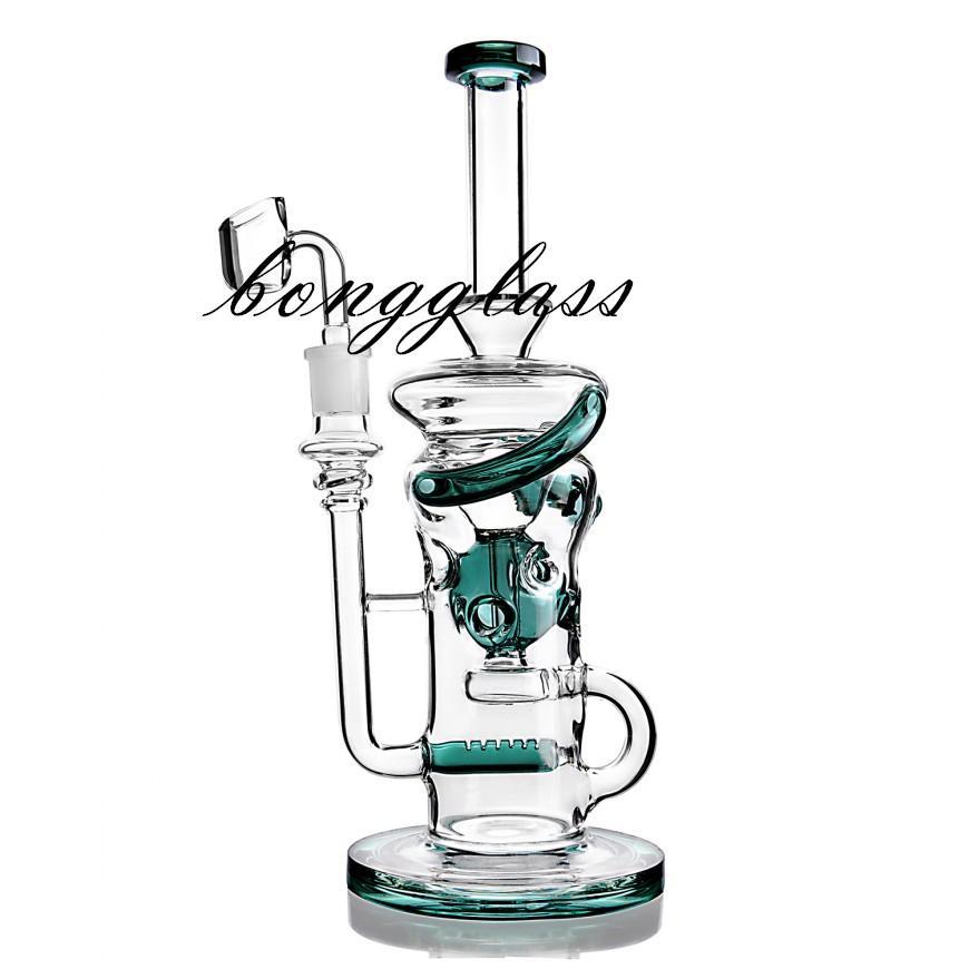 퍼콜 레이터 물 파이프 기능 유리 물 봉 재활용 기름 장비 연기 오일 버너 파이프 치마 물 담뱃대 Shisha 흡연 14mm Banger