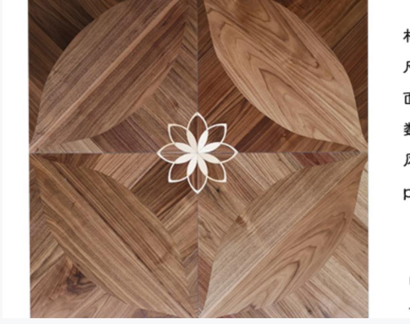 Натуральный цвет American Walnut Wood Phood Phood Marsky Medallion Inlaid Полы Декор Дома Декор интерьера Наблюдатение Обои Панели плитки Художественная Облицовка