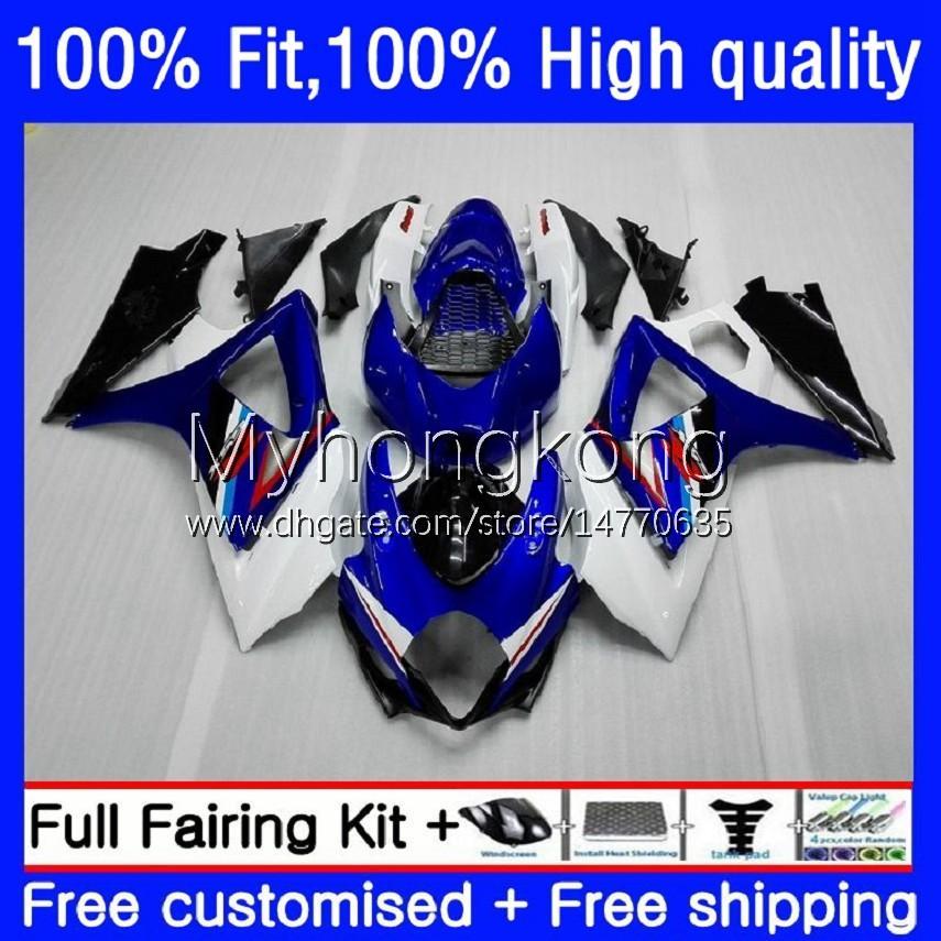 Suzuki GSXR 1000 CC 1000CC 2007-2008 Bodys 27NO.0 GSX-R1000 GSXR1000 K7 07 08 GSXR-1000 GSXR1000CC 2008 OEM Bodywork Factory Blue