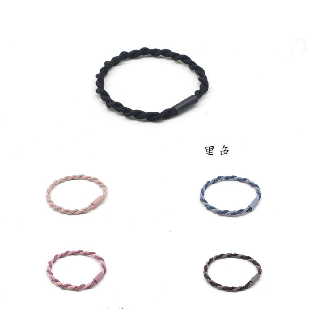 Цвет Корейский чистый красный простой и универсальный базовый круг контрастный кружок кружок заплетенные головы волос N2021
