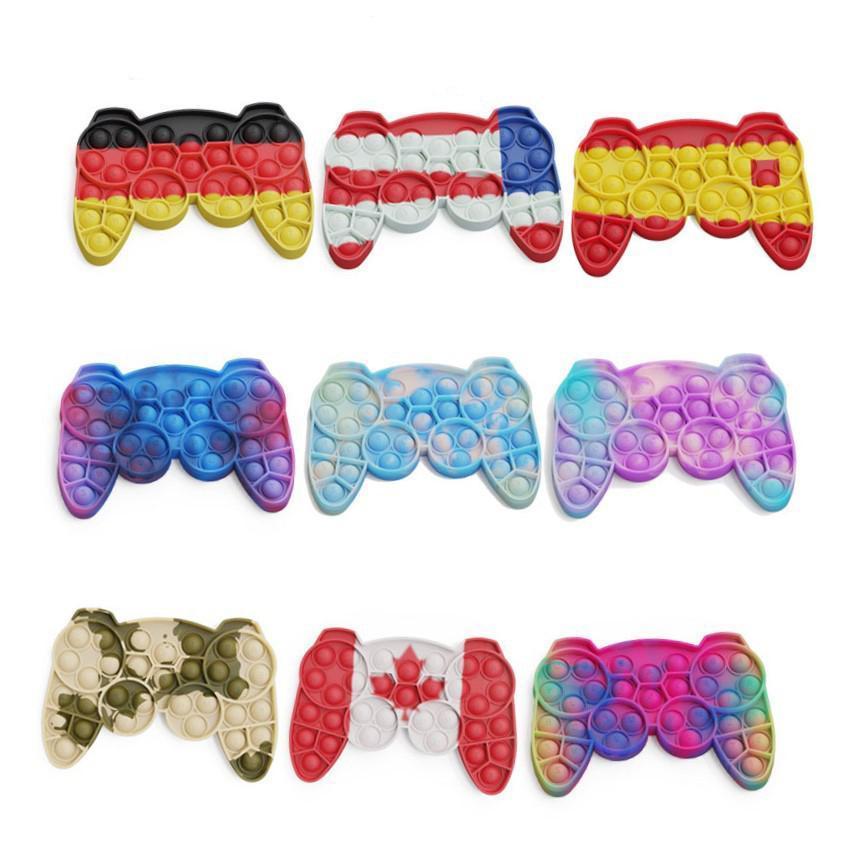 푸시 버블 키즈 간단한 딤플 장난감 장난감 성인 게임 패드 Antistress 손 푸시 바블 자폐증을위한 감각 장난감
