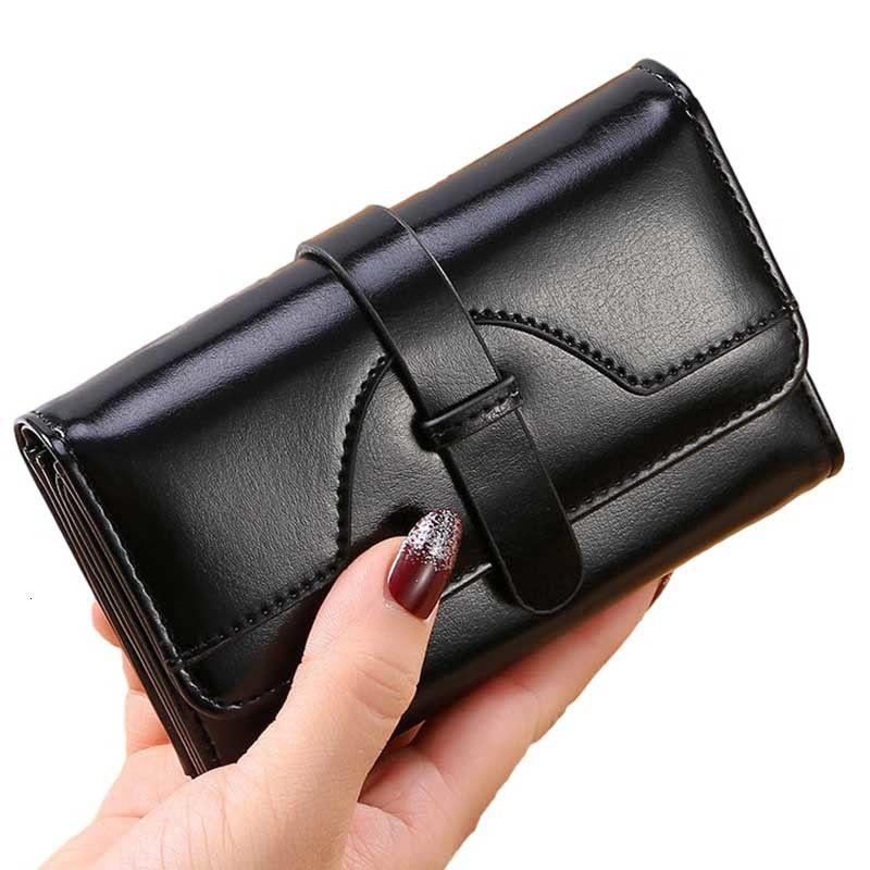 Fashion Luxury Female Genuine Leather Wallet Women Rfid Blocking Business Credit Card Holder Clutch Money Bag Purse Woman