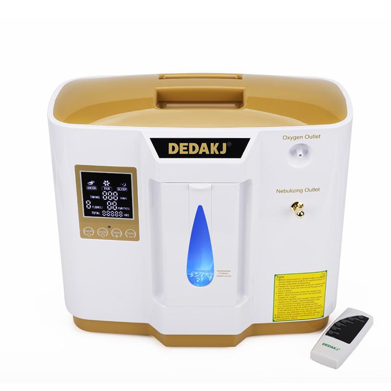 DÉDUKJ GOLD OXYGEN GÉNÉRATEUR 1-7L Concentrateur d'oxygène ménager réglable PSA Oxygen Maker Machine avec contrôleur atomisé et distant