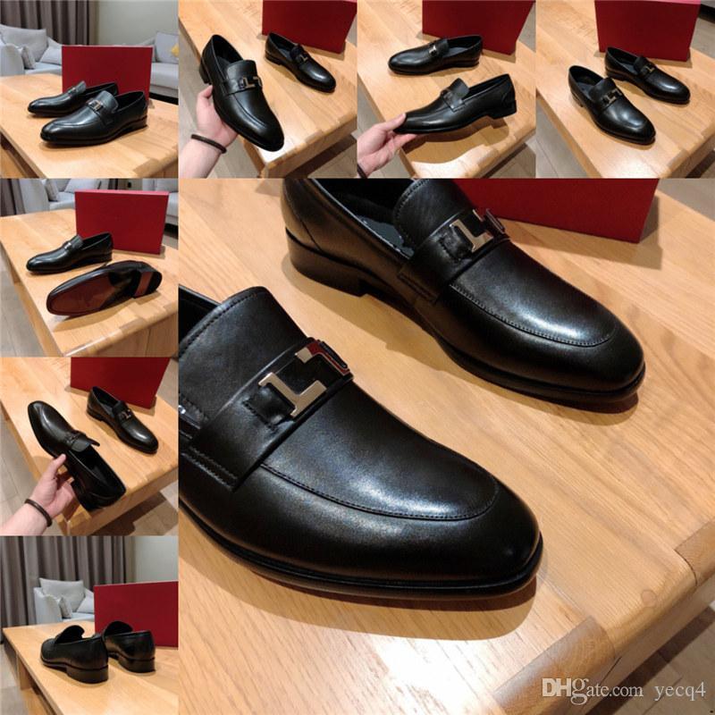 Q4 몽크 스트랩 신발 럭셔리 남성 브라운 드레스 브랜드 비즈니스 신발 남자 coiffeur 큰 크기 45 이탈리아 드레스 디자이너 신발 남자 공식 2020 11