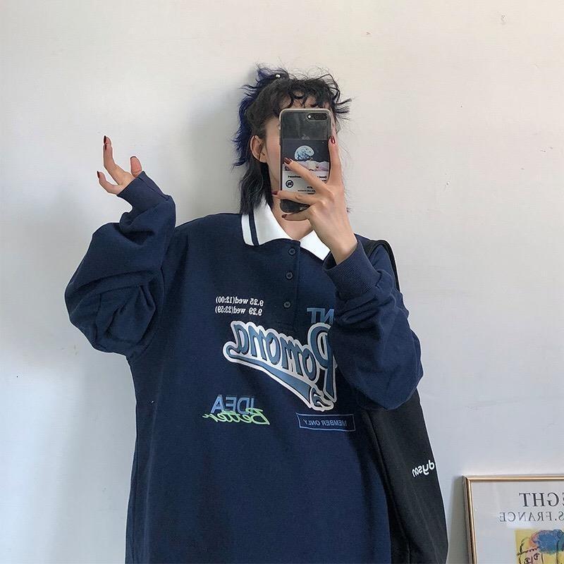 2020 Recuperar Sudaderas con capucha de gran tamaño Mujeres de estilo coreano, letra de moda, sudadera, sudadera, Harajuku Top Rosa Larga Mouwen