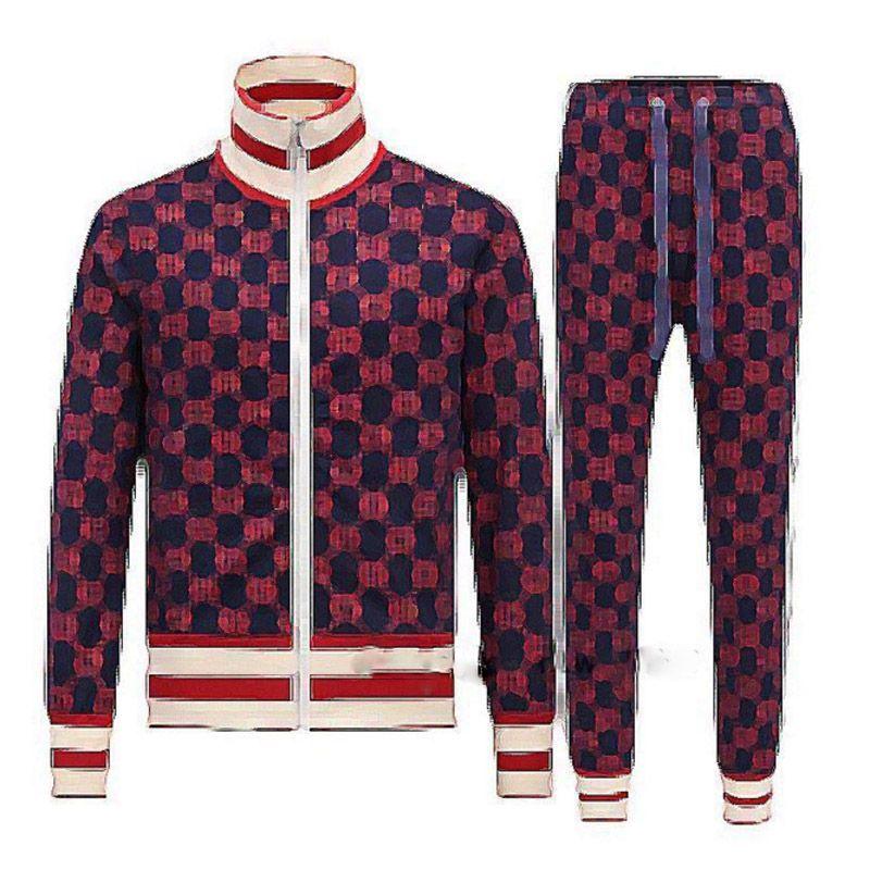 Concepteur + ensembles de pantalons costumes costumes de mode automne mode chenilles jogger sueur loisirs succursale hommes veste costume de sport luxe uklf uklf