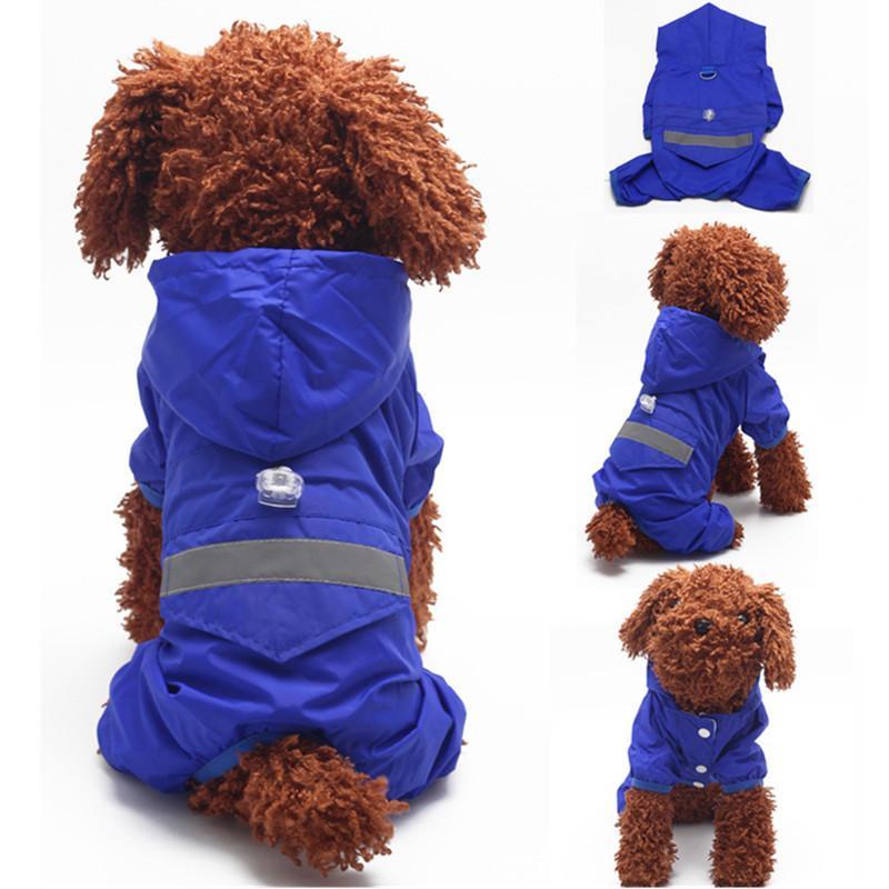 كلب ماء مقنعين المعطف القط معطف المطر سترة الجرو الملابس زي لوازم الحيوانات الأليفة