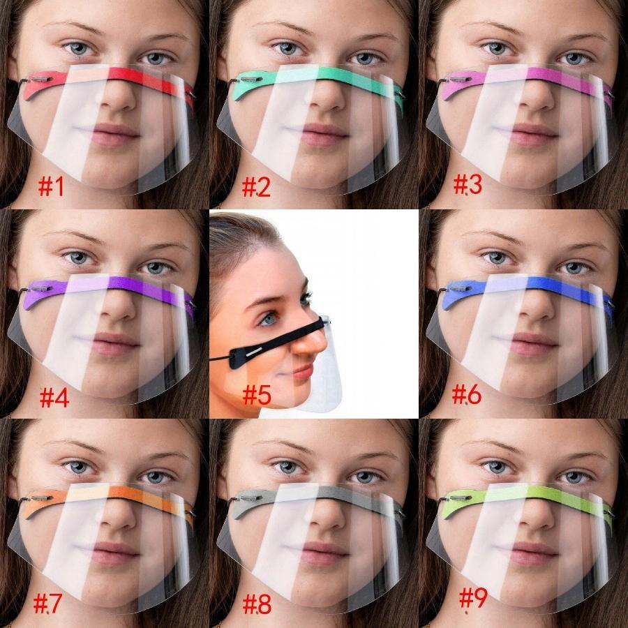 Masque Sourds Langue Mute Lèvre 9 Couleurs Bouclier Visage transparent Souchail respirant Couverture pleine de bouche adulte Masques de protection pour enfants DDA787