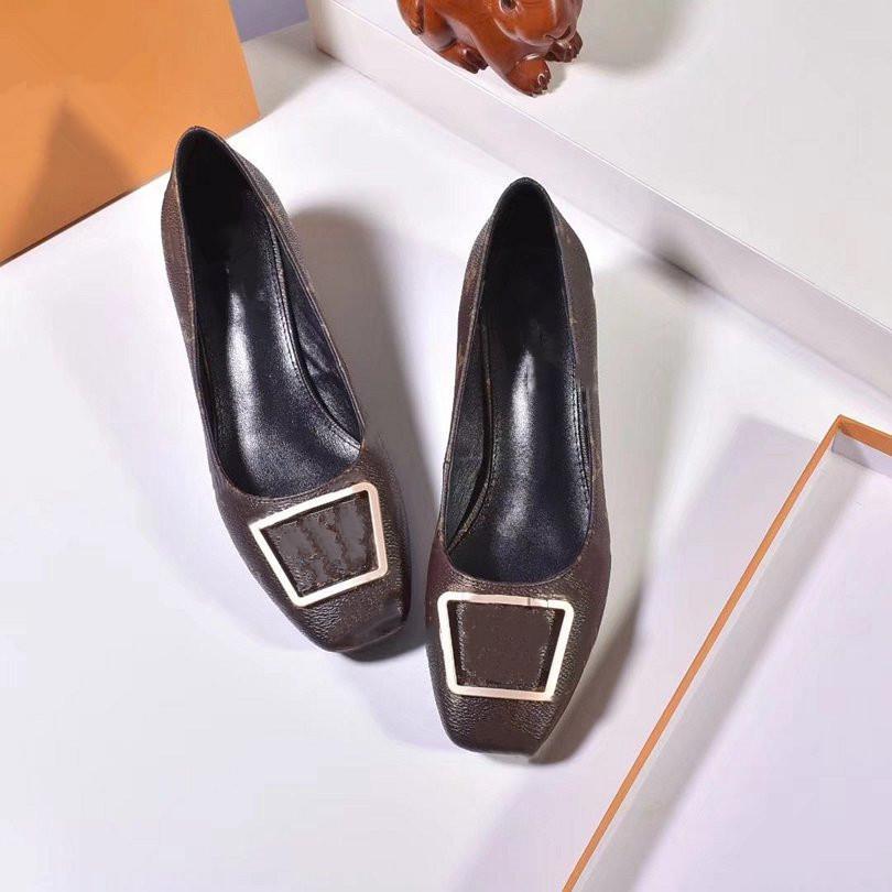 Novos sapatos de vestido para verão 2021, saltos de desenhista de luxo, sapatos à moda feminina com logotipo e caixa 8qw