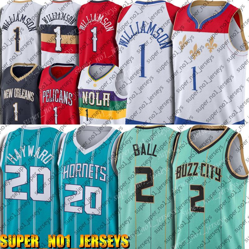 Nova OrleansPelicanos.Jersey Zion 1 Basquete Williamson Jerseys Lamelo Lonzo Ball Jersey CharlotteHornets.Jersey XZCB651A.