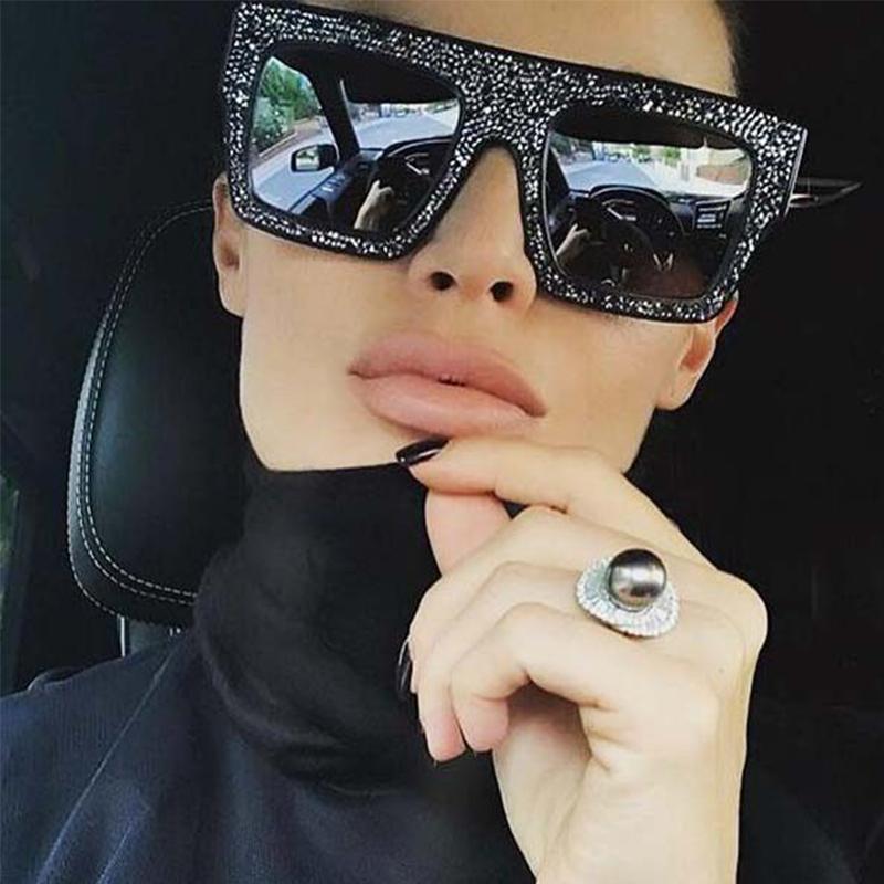 CRISTAL DE LUJO CRISTAL PEQUEÑO PEQUEÑO PEQUEÑA VINTORIA VINTORIA DE DISEÑADOR DE PRIGUIENTE Gafas de sol para las mujeres Gafas de las señoras UV400 21ss