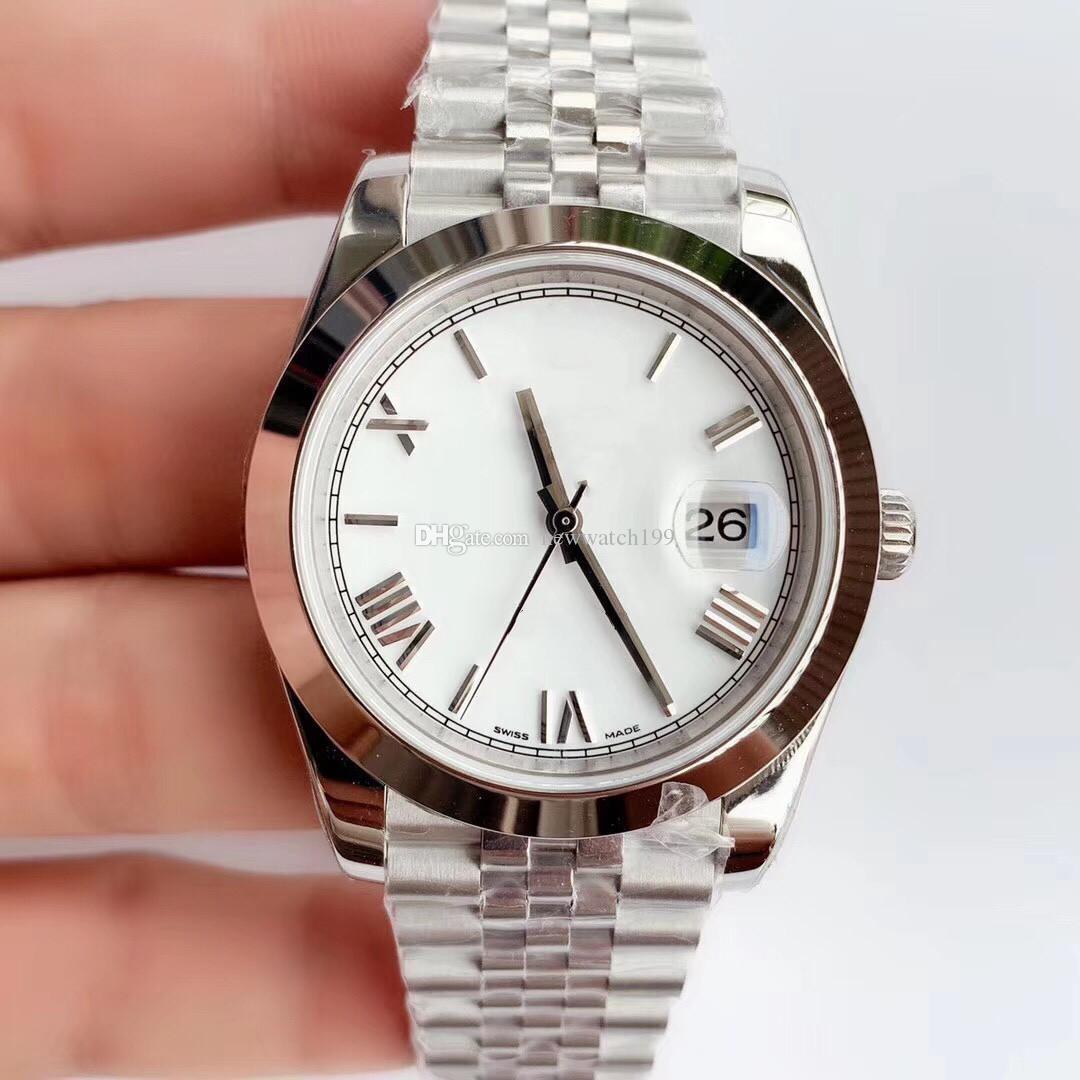 Классические мужские римские цифры 41 мм 2813 Водонепроницаемые Светальные Игла Спортивные Автоматические Сапфировые Часы Движение Механические наручные часы