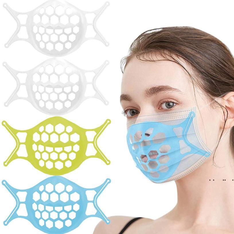 سيليكون 3d الفم قناع قوس الوجه أقنعة حامل حامل التنفس صمام فلاتر دعم إطار الغذاء الصف سيليكون قناع حامل EWB5391