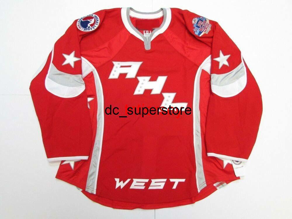 Dikişli Özel 2012 Ahl All Star oyunu West Hockey Jersey Herhangi bir isim ekleyin Erkek Çocuklar Jersey XS-5XL