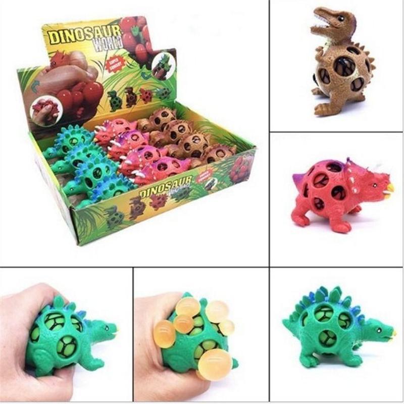 장난감 공룡 모델 포도 배출 공 압력 공 스트레스 구호 어린이 감압 장난감