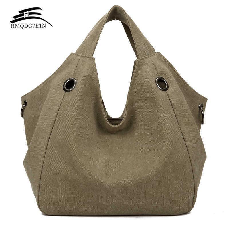 Promotieren 100% Conton Frauen Solide Umhängetasche Mode Lässige Leinwand Hobos Handtaschen Hohe Qualität Große Kapazität Tragetaschen C0602