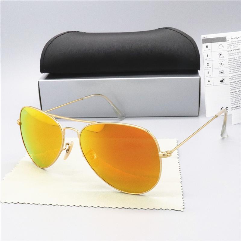 Sıcak Satış Marka Polarize Güneş Gözlüğü Erkek Kadın Pilot Güneş Gözlüğü UV400 Gözlük Klasik Sürücü Gözlük Metal Çerçeve ile Cam Lens Kyrrkr
