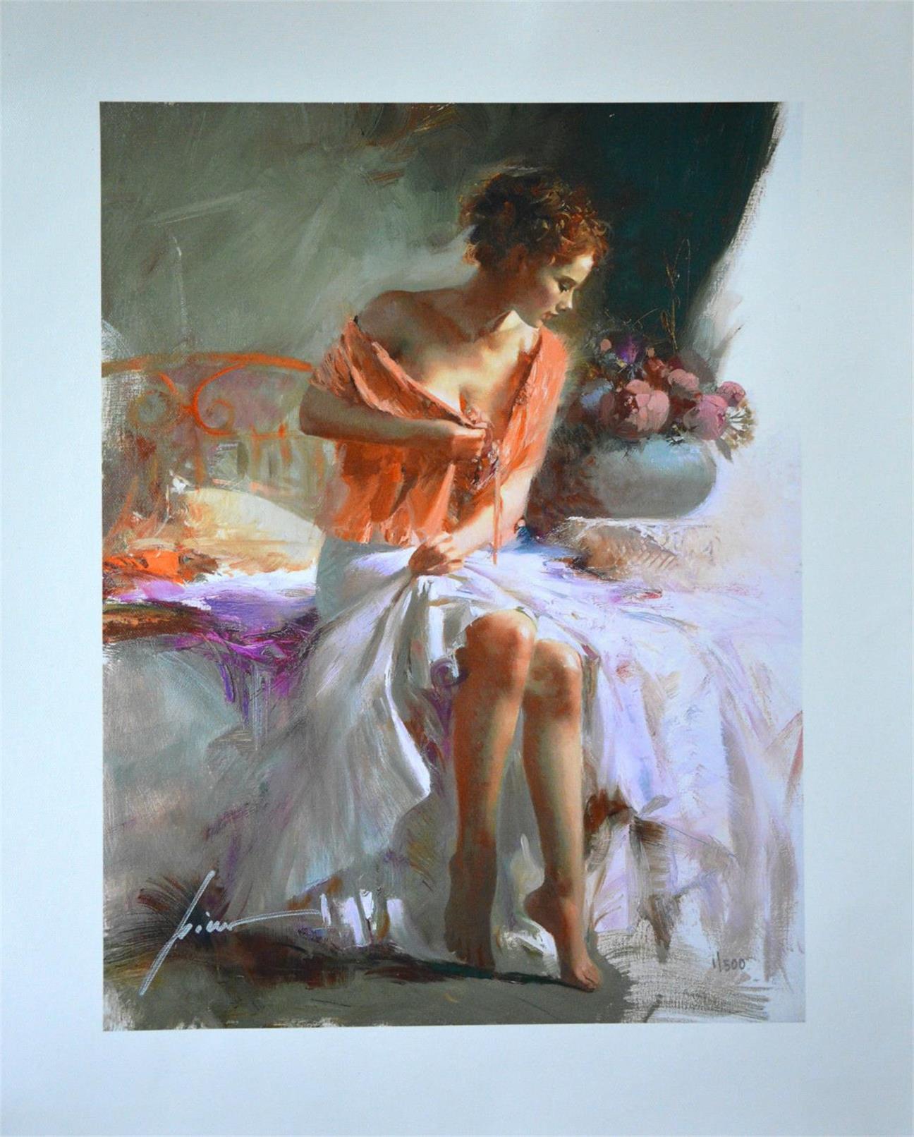 Pino Daeni Retrato Decoración para el hogar genuino Pure Pure Handpainted HD Imprimir Pintura al óleo sobre lienzo Arte de la pared Imágenes de lienzo, F210308