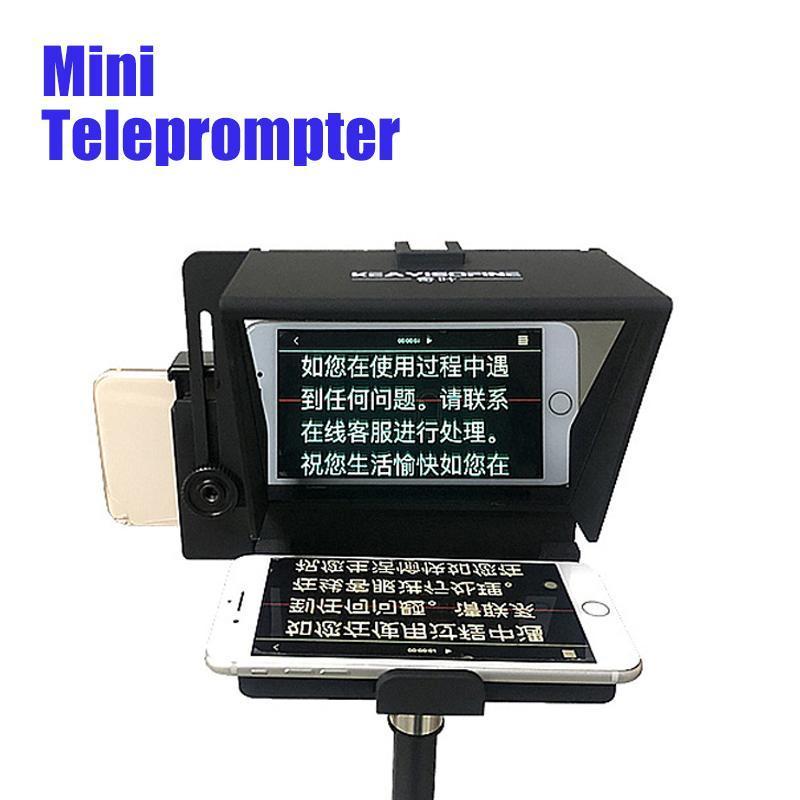Mini Portable Prompter Smartphone TelePrompter для YouTube Live Vlog Видеобетовое речь для мобильного телефона DSLR Cameras