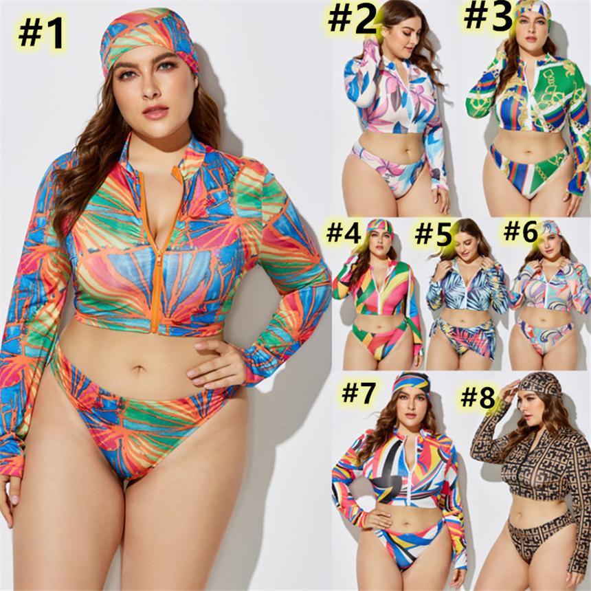 Plus Größe 5XL Frauen Badebekleidung Sexy 3 Stück Schwimmanzüge Hohe Stretch Bikini Sets Top + Stirnband + Bikini Sexy Badeanzug Bodycon Badeanzug 4513