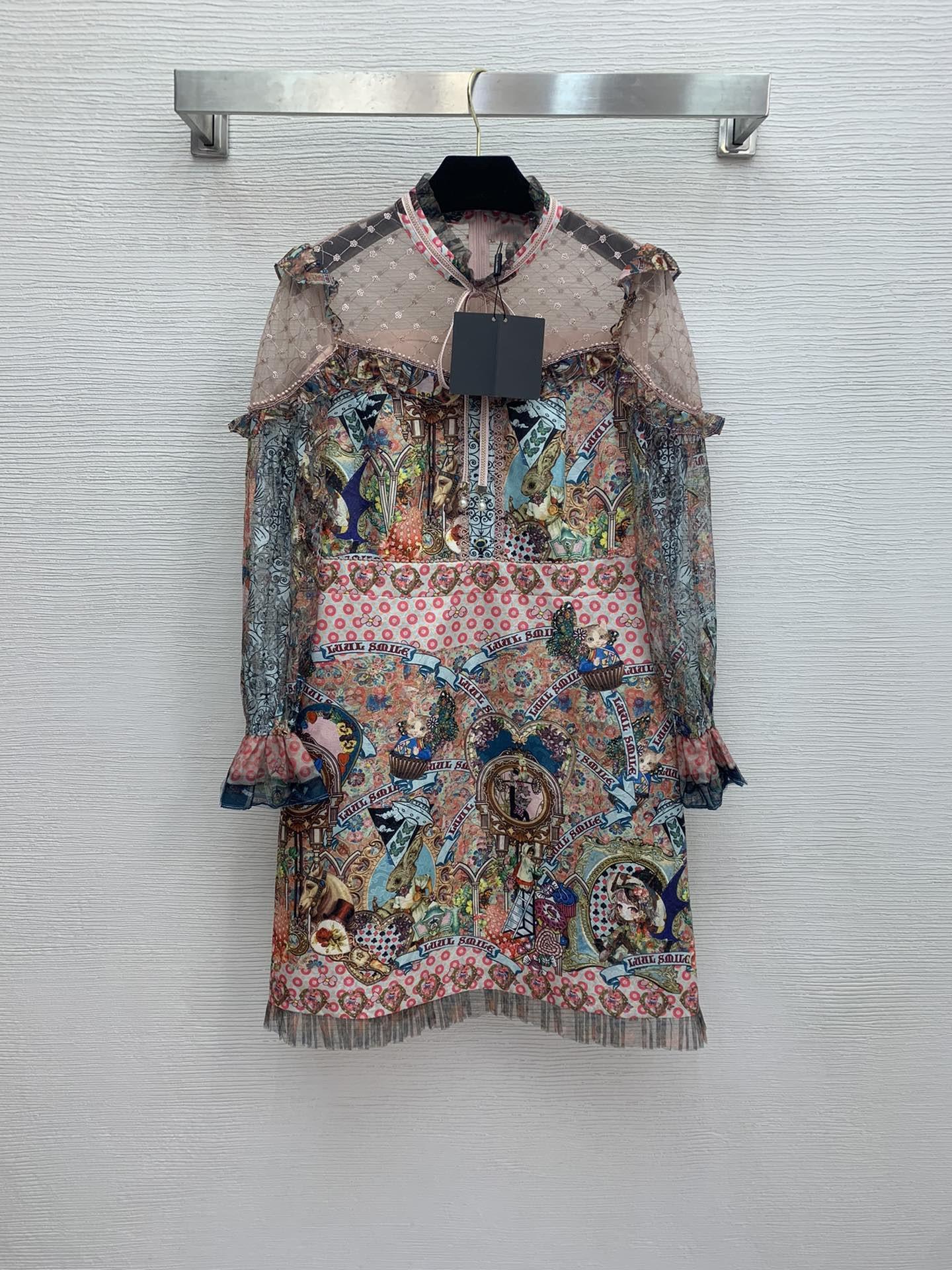 Milan pist elbise 2021 yeni standı yaka uzun kollu kadın tasarımcı elbise markası aynı stil elbise 0306-68