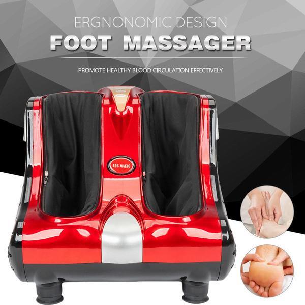 110V inteligente vibração de acupressão aquecimento amassar o pé de torta de pé de tornozelo massageador de vibração de pé de relaxamento máquina de pedicure