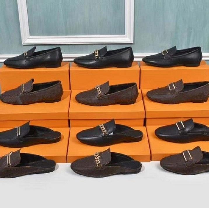 고전 로퍼 여성 드레스 신발 플랫 신발 캔버스 및 진짜 양가죽 로퍼 두 톤 모자 발가락 패션 캐주얼 신발 home011 01