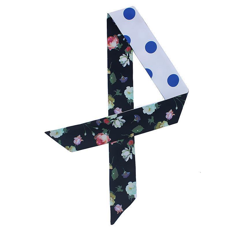Корейская новая цветочная точка печатные шарфы женская переплетная сумка ручка ленты мода декоративные шарф волос ленты Adez