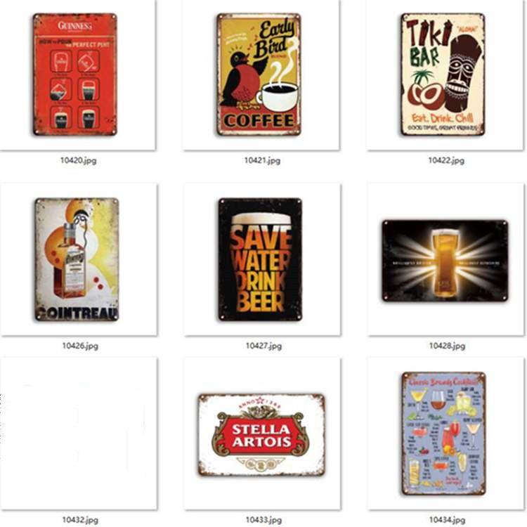 새로운 금속 맥주 포스터 코로나 여분의 틴 표지판 복고풍 벽 스티커 장식 아트 플라크 빈티지 홈 장식 바 펍 카페 EEB5635