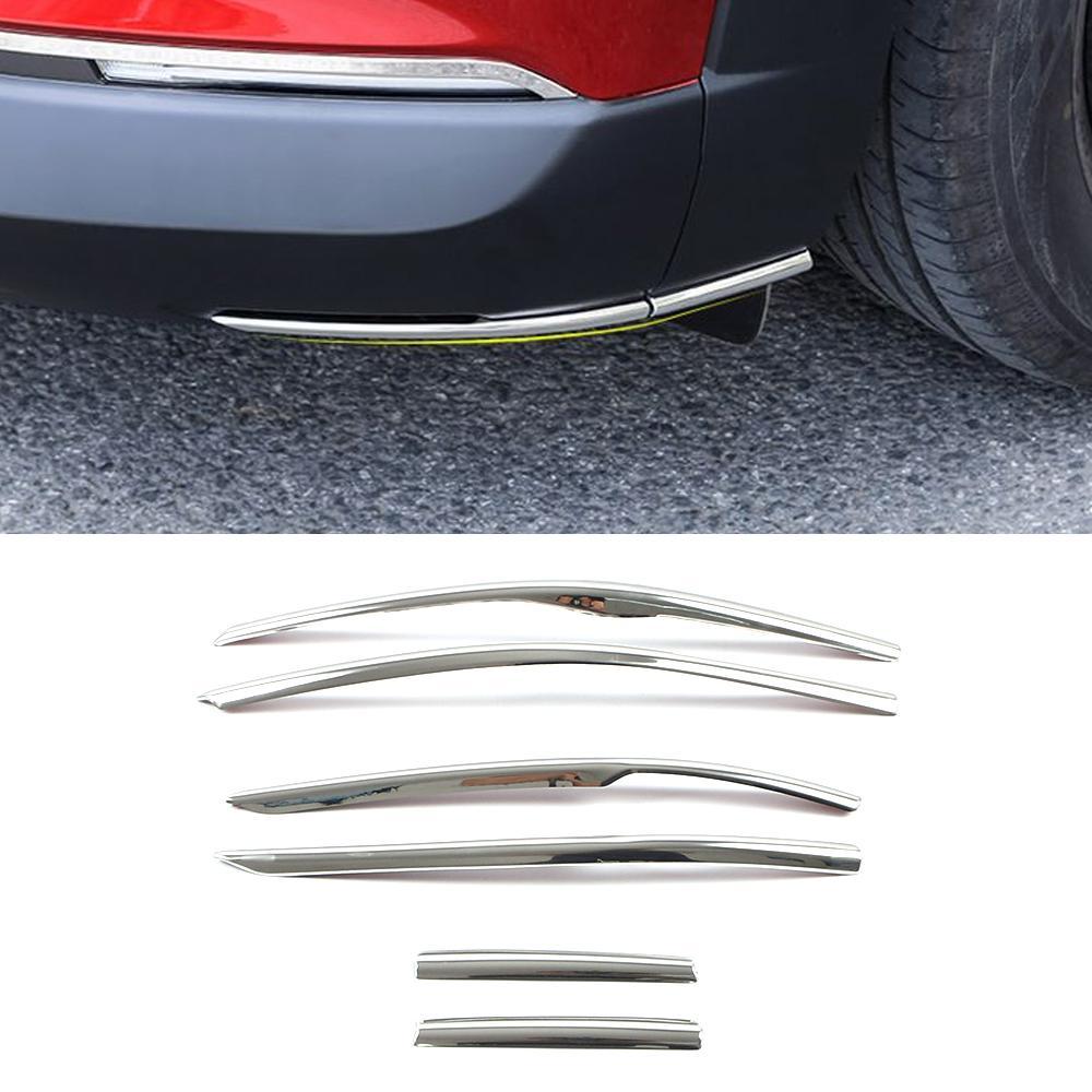 CARMANGO POUR MAZDA CX-30 ACCESSOIRES AUTO AUTO Auto Face arrière Pare-chocs Diffuseur Diffuseur Splitter Protecteur de gratter Chrome