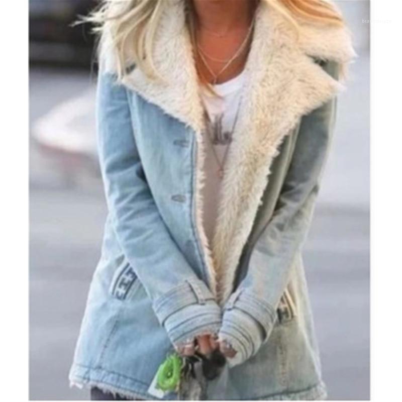 Invierno femenino nuevo casual ropa exterior cálida de las señoras collar de piel de las damas caídas de la moda de la moda de la moda de la manga larga de la moda del botín de la manga larga del abrigos de la manga larga
