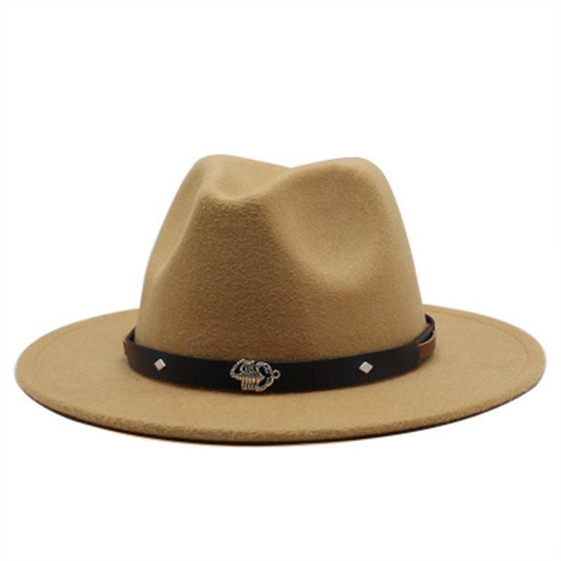 chapeaux pour femmes grandes hommes courroie de jazz bouchons de jazz derby fedoras chapeau chute hiver blanc blanc mariage formelle panama femmes hommes feutre