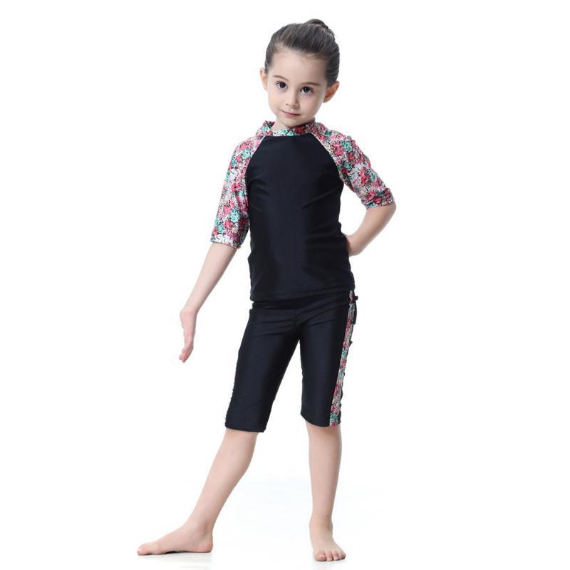 Abbigliamento etnico Abbigliamento ISLAMIC BAMBINI VISUALIZZAZIONE DOMESTICA MUSULLUSH Girls Swimwear Modest Beach Wear Bashing Suit Bambini Tradizionale Arab Hijab