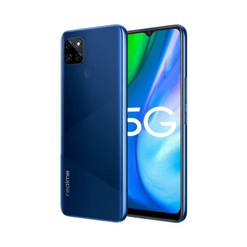 "Original Realme Q2I 5G Mobiltelefon 4 GB RAM 128GB ROM MTK 720 Android 6.5 ""Vollbild 13MP 5000mAh Face ID Fingerprint-ID Smart-Handy"