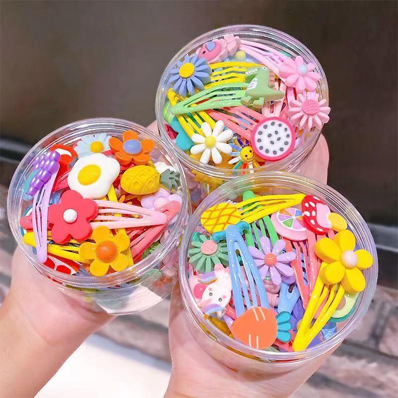 10 unids niñas linda dibujos animados animales flor horquillas corea dulces niños clips de pelo pinzas diadema niños accesorios para el cabello