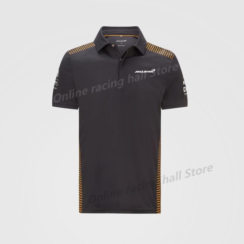 Polos dos homens F1 Verão Fórmula 1 Camisa McLaren Site Oficial 2021 Botão da Equipe Manga Curta Última Racing Suit Respirável