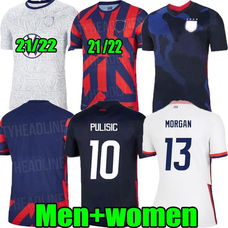 20 21 22 US Futbol Forması Pulisic Yedlin Bradley Kız Gömlek 2021 2022 Amerika Birleşik Devletleri Erkek Kadın Ahşap Dempsey Altidore Eve Uzaktan Futbol Üniforması